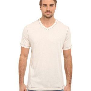Robert Graham Traveler White V-neck T-Shirt Tee